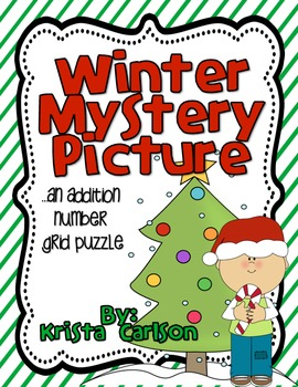 Winter Mystery Picture (Number Grid Puzzle - English/Spanish)