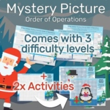 Winter Order of Operations (PEMDAS) Mystery Picture Worksheet