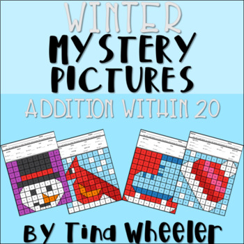 Winter Mystery Pictures Addition Within 20 ~ Fact Fluency
