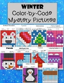 Winter Mystery Pictures Color by Code January Fast Finishers