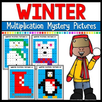 Winter Mystery Pictures- Multiplication