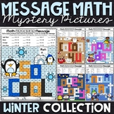 Winter Mystery Pictures | Multiplication and Division | Winter Color by Number