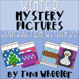 Winter Mystery Pictures Subtraction Within 20 ~ Fact Fluency
