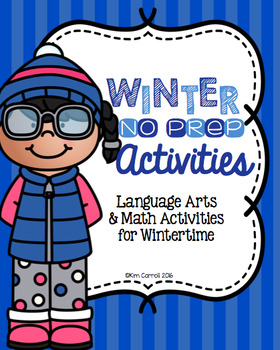 Winter NO PREP Activities and Printables