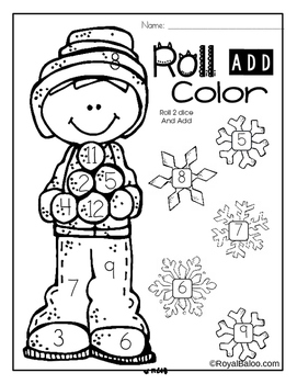 Winter NO PREP First Grade Math Pack