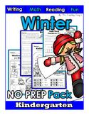 Winter NO PREP Kindergarten Superpack!