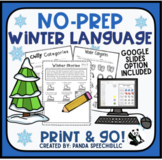 Winter NO PREP Language Pack for Speech Therapy with dista