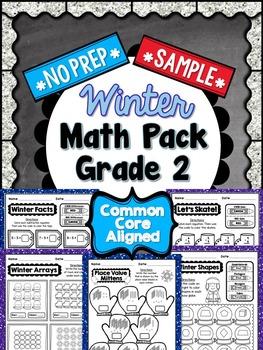 Winter No Prep Math - 2nd Grade