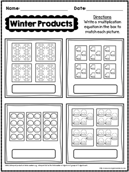 Winter No Prep Math - 3rd Grade