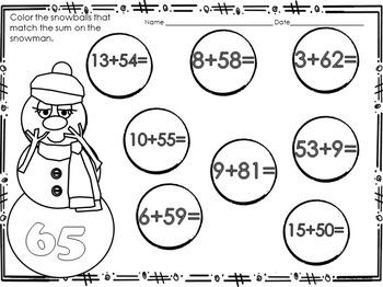 Winter NO PREP Math Printables