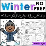 Winter No Prep Math and Literacy Worksheets for Kindergarten