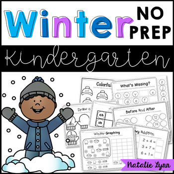 Winter NO PREP Printables for Kindergarten