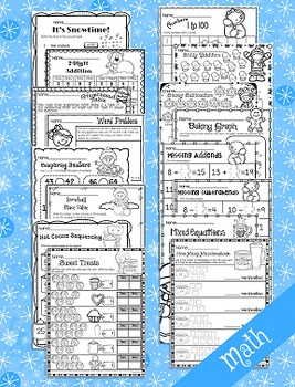 Winter Activities   January Activities NO PREP (First Grade)