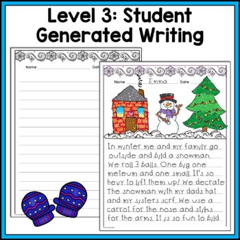 Winter Punctuation and Capitalization; Where do the sentences end? {NO PREP}