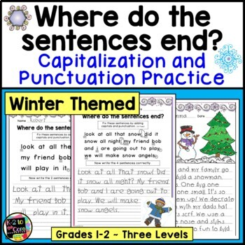 Winter Punctuation and Capitalization; Where do the senten