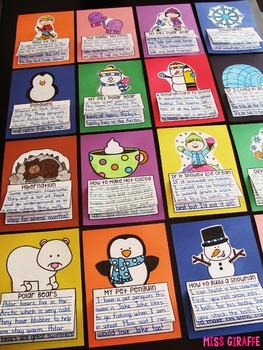 Winter Writing Activities (19 NO PREP Winter Crafts)