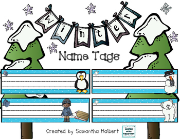 Winter Name Tags