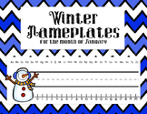 Winter Nameplates