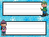 Nameplates / Deskplates / Classroom Labels {Winter}