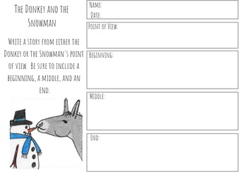 Winter Narrative Writing Prompt and Graphic Organizer