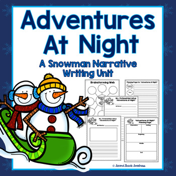 Winter Narrative Writing: Snowmen Adventures At Night
