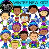 Winter New Kids Clipart {Winter Clipart}