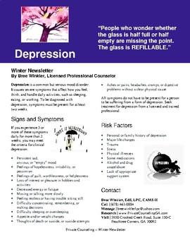 Winter Newsletter: Depression