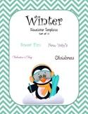 Winter Newsletter Templates - Set of 11