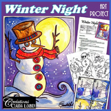 Winter Night : Art Projet : Snowman