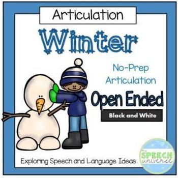 Winter No-Prep Articulation Packet