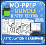 Winter No Prep BUNDLE: Articulation AND Language Activitie