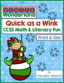Winter ELA & Math Printables and Whole Class Activity - CCSS Grade 3