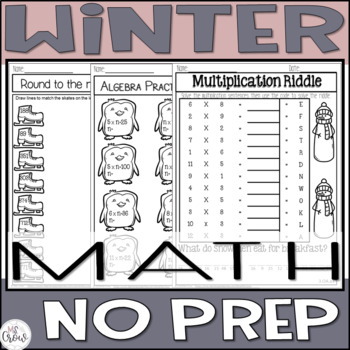 Winter No Prep MATH ~3rd Grade~