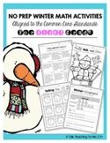 Winter No Prep Math Activities (1st grade)