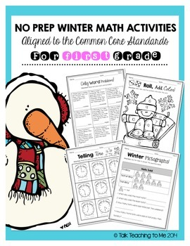 Winter No Prep Math Activities (1st grade)