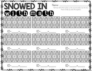 Winter No Prep Math Games