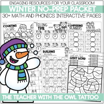 Winter No Prep (Math and Literacy)