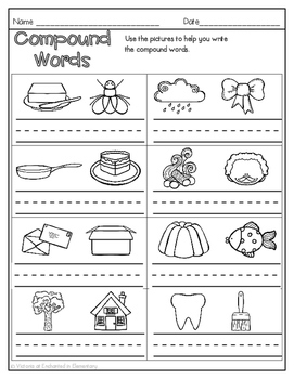 Winter No Prep Math and Literacy Printables for First Grade