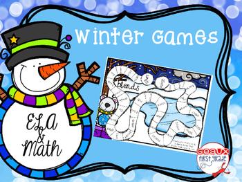 Winter No Prep Print and Play Games