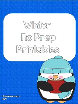 Winter No Prep Printables