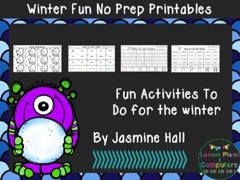 #halfoffhalftime Winter No Prep Printables