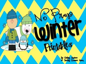 Winter *No Prep Printables* Freebie