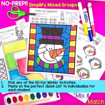 No-Prep Winter Speech Therapy Activities with Yes-No & WH Questions