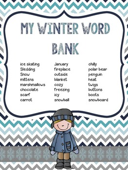 Winter No Prep Writing: 16 Printables for Your Work on Writing Literacy Center