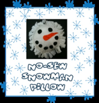 Snowman Pillow Craft for Christmas Easy for Little Hands