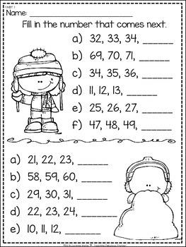 Winter No Time For Prep! First Grade Math *FREEBIE* 1.OA. & 1.NBT
