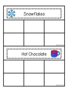 Winter Non-Identical Sorting Activities