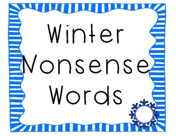 Winter Non Sense Words for Pocket Chart