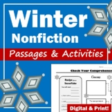 Winter Nonfiction Reading Passages and Graphic Organizers