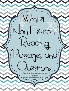 Winter Non-fiction Leveled Reading Passages and Questions